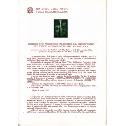 Italia Bollettino illustrativo 1963 n°96 INA Istituto Nazionale Assicurazioni