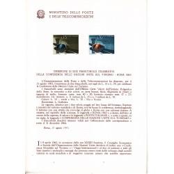 Italia Bollettino illustrativo 1963 n°99 Conferenza Nazioni Unite Turismo
