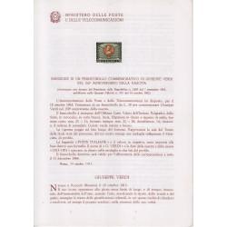 Italia Bollettino illustrativo 1963 n°100 Europa CEPT con annullo primo giorno