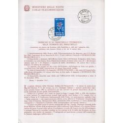 Italia Bollettino illustrativo 1963 n°104 Giornata Francobollo con APG