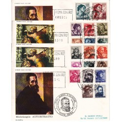 FDC ITALIA OLIMPIA 06/03/1961 UNIF. 899/17 MICHELANGIOLESCA RACC