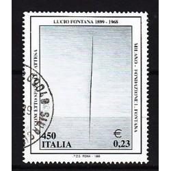 1999 Italia Repubblica - Unif. 2434 - Lucio Fontana - usato