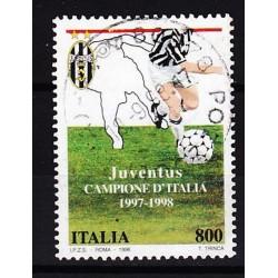 1998 Italia Repubblica - Unif. 2382 - Juventus campione d Italia 1997-1998 - usato