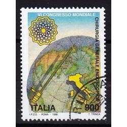 1998 Italia Repubblica - Unif. 2388 - 6º Congresso Mondiale di Chirurgia Generale Endoscopica - usato