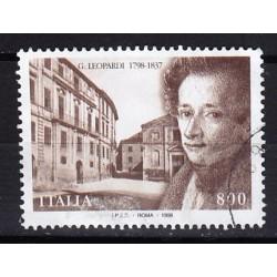 1998 Italia Repubblica - Unif. 2393 - Bicentenario della nascita di Giacomo Leopardi - usato
