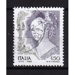 1998 Italia Repubblica - Unif. 2395 - La Donne nell'arte affresco di Filippo Lippi £ 450 - usato