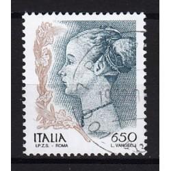 1998 Italia Repubblica - Unif. 2396 - La Donne nell'arte dipinto di Antonio del Palladio £ 650 - usato