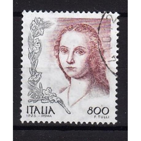 1998 Italia Repubblica - Unif. 2397 - La Donne nell'arte dipinto di Raffaello Sanzio - £ 800 usato