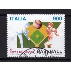1998 Italia Repubblica - Unif. 2399 - Coppa del Mondo di Baseball - 900 £ usato