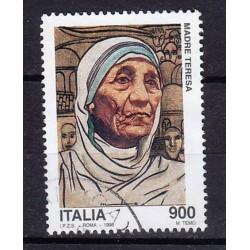 1998 Italia Repubblica - Unif. 2403 - Madre Teresa di Calcutta £ 900 usato