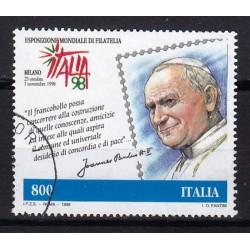 1998 Italia Repubblica - Unif. 2407 - Giovanni Paolo II 800 £. usato