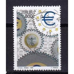 1998 Italia Repubblica Unif. 2418 - Esposizione mondiale di filatelia a MIlano 8ª emis. Giornata dell´Europa Ingranaggi usato