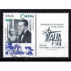 1998 Italia Repubblica Unif. 2422 - Giornata del cinema De Sica usato