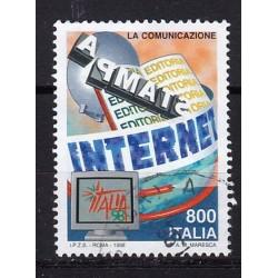 1998 Italia Repubblica Unif. 2423 - Esposizione mondiale di filatelia. Giornata delle comunicazioni usato