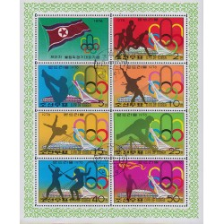 Korea - Scott A907-1469/75 17/091976 Foglietto Olimpiadi usato