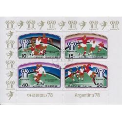 Korea - Scott A942-1654/57  10/12/1977 Foglietto Mondiali di Calcio usato