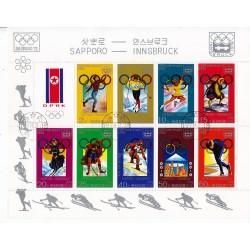 Korea - Scott A946-1667  18/02/1978 Foglietto Olimpiadi di Innsbruck usato