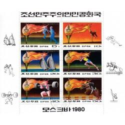 Korea - Scott A978-1819a 01/07/1979 Foglietto Mosca Olimpiadi usato