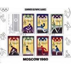 Korea - Scott A982-1850/6 05/09/1979 Foglietto Mosca Olimpiadi usato