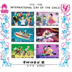 Korea - Scott A997-1906/12 28/01/1980 Foglietto Giornata del Fanciullo usato