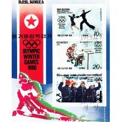 Korea - Scott A989-1892a 09/12/1979 Foglietto Olimpiadi sul Ghiaccio usato