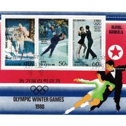 Korea - Scott A989-1895/7 09/12/1979 Foglietto Olimpiadi sul Ghiaccio usato