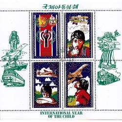 Korea - Scott A986 1878 13/10/1979 Foglietto anno internazionale del bambino usato