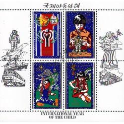 Korea - Scott A986 1880 13/10/1979 Foglietto Anno del bambino usato
