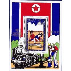 Korea - Scott A986 1885 13/10/1979 Foglietto Anno del bambino usato