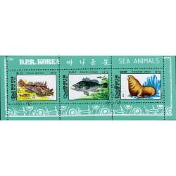 Korea - Scott A988 1889 15/11/1979 Foglietto Animali Marini usato