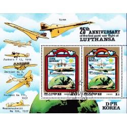 Korea - Scott A1027 2001A 10/12/1980 Foglietto Aerei Lufthansa usato