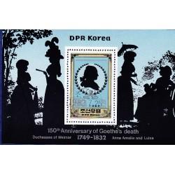 Korea - Scott A1081 2204 25/07/1982 Foglietto Goethe s death usato