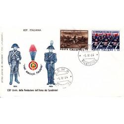 FDC ITALIA 1964 Filagrano Unif. 978/9 Arma Dei Carabinieri A/Roma