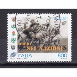 2000 Italia Repubblica - Unif. 2487 - rugby - usato