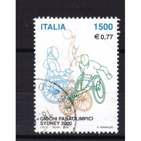 2000 Italia Repubblica - Unif. 2540 - giochi disabili - usato