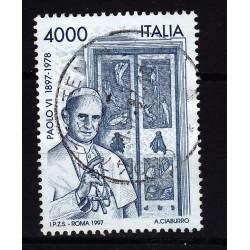 1997  Italia Repubblica - Unif. 2351 - nascita paolo vi - usato