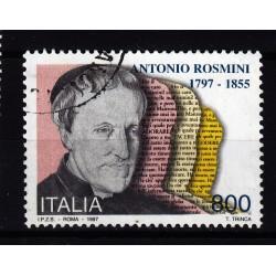 1997  Italia Repubblica - Unif. 2341 - antonio rosmini - usato