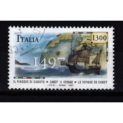 1997  Italia Repubblica - Unif. 2334 - giovanni caboto - usato