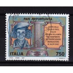 1997  Italia Repubblica - Unif. 2297 -- pari opportunità -  usato