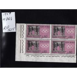 Italia Repubblica 1959 Unif.  864 propaganda olimpiadi  MNH quartina