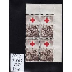 Italia Repubblica 1959 Unif.  867  guerra d'indipendenza  MNH quartina