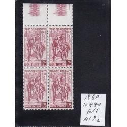 Italia Repubblica 1960 Unif.  880 anno rifugiato  MNH  quartina