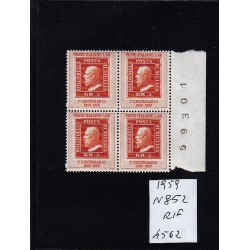 Italia Repubblica 1959 Unif.  852a  francobolli sicilia  MNH  quartina