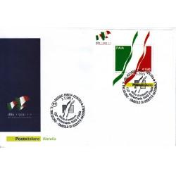 FDC ITALIA Poste Italiane Unif 3266/BF57 Unità D'italia Tricolore