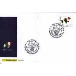 FDC ITALIA Marcofilia Annullo speciale 29/01/2011 150° Anniversario Unità D'italia Forli'