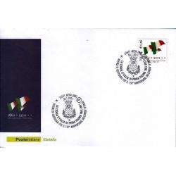 FDC ITALIA Marcofilia Annullo speciale 30/01/2011 150° Anniversario Unità D'italia Meda