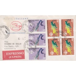 FDC ITALIA 1974 Poste Italiane Cavallino Unif. 1260/61 Campionati atletica raccomandata