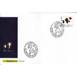 FDC ITALIA Marcofilia Annullo speciale 05/02/2011 150° Anniversario Unità D'italia Cecine