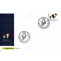 FDC ITALIA Marcofilia Annullo speciale 01/03/2011 Giovanazzo -150° An. Unità D'italia
