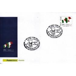 FDC ITALIA Marcofilia Annullo speciale 12/03/2011 Diano Marina -150° An. Unità D'italia